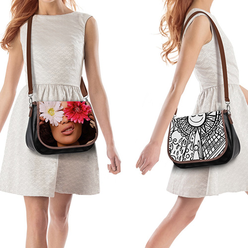 Custom 12 Inch Leather Messenger Bag [YHPI]
