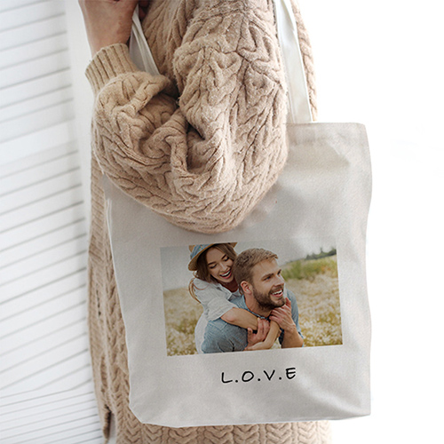 Custom Linen Tote Bags (Inner Zipper Pocket)