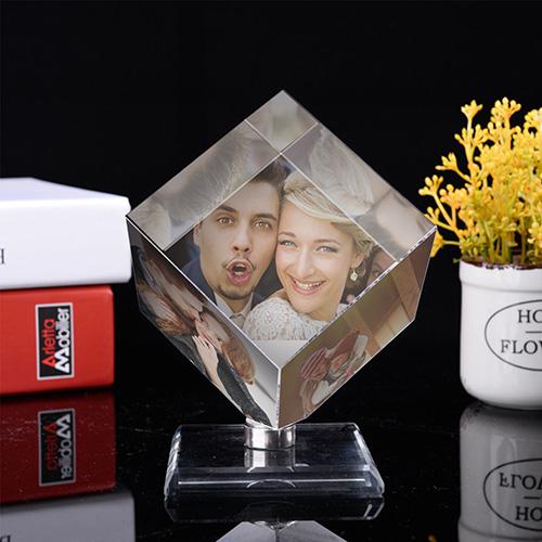 Custom 3D Photo Crystal Cube