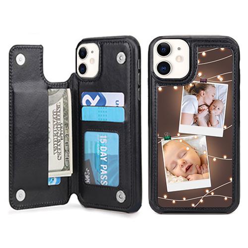 Custom for iPhone 12 Card Holder Wallet Case