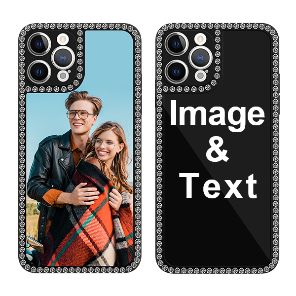 Custom for iPhone 12 Pro Max Bling Rhinestone Case