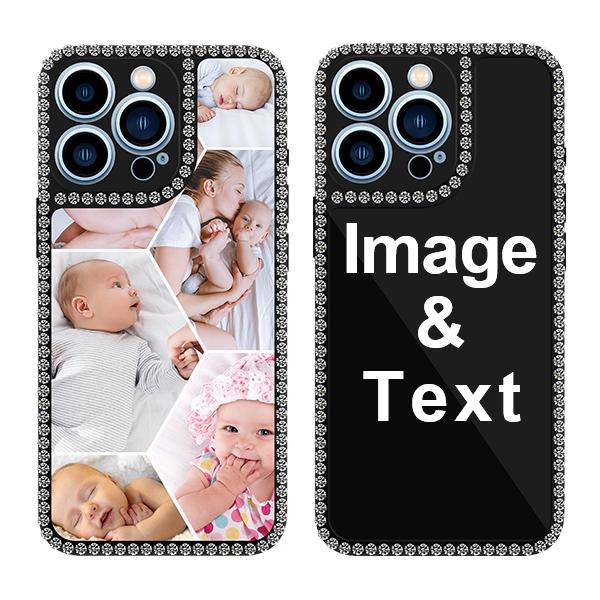 Custom for iPhone 13 Pro Bling Rhinestone Case