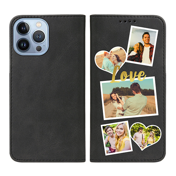 Custom for iPhone 13 Pro Max Flip Wallet Case