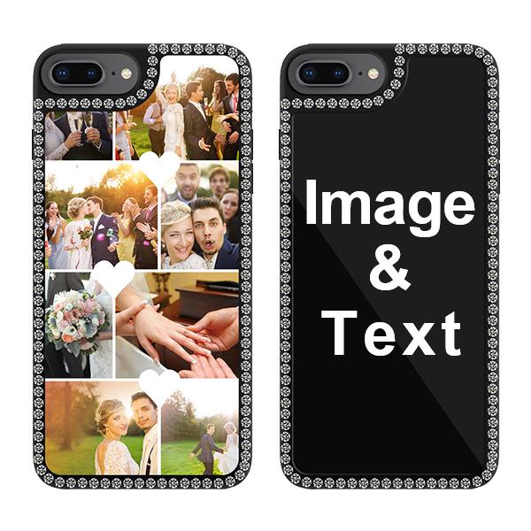 Custom for iPhone 8 Plus Bling Rhinestone Case
