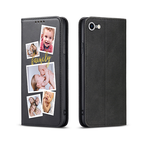 Custom for iPhone SE 2020 Flip Wallet Case