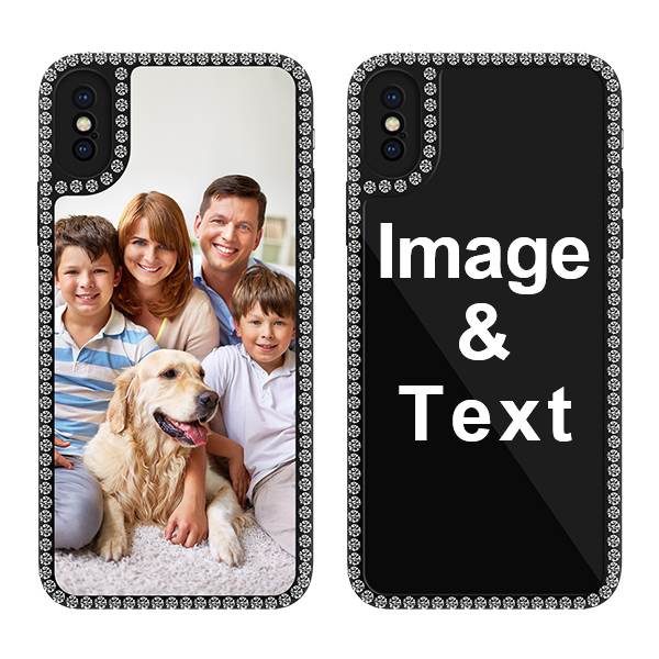 Custom for iPhone X Bling Rhinestone Case