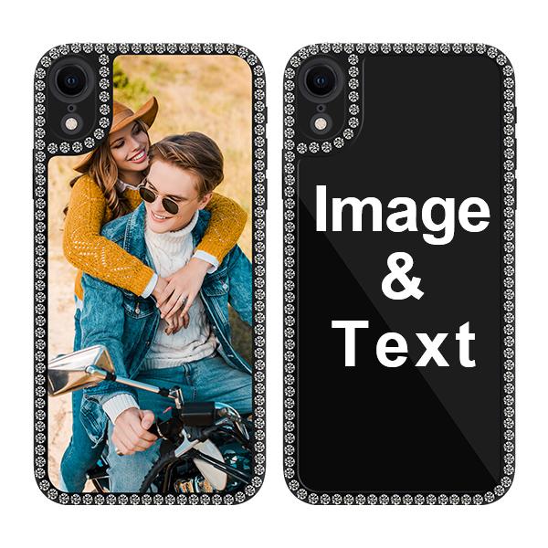 Custom for iPhone XR Bling Rhinestone Case