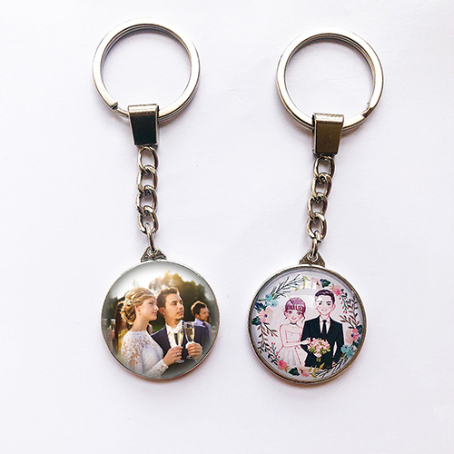 Custom Photo Round Metal Keychain