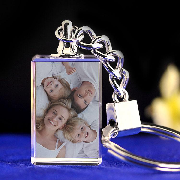 Custom Photo Crystal Keychain