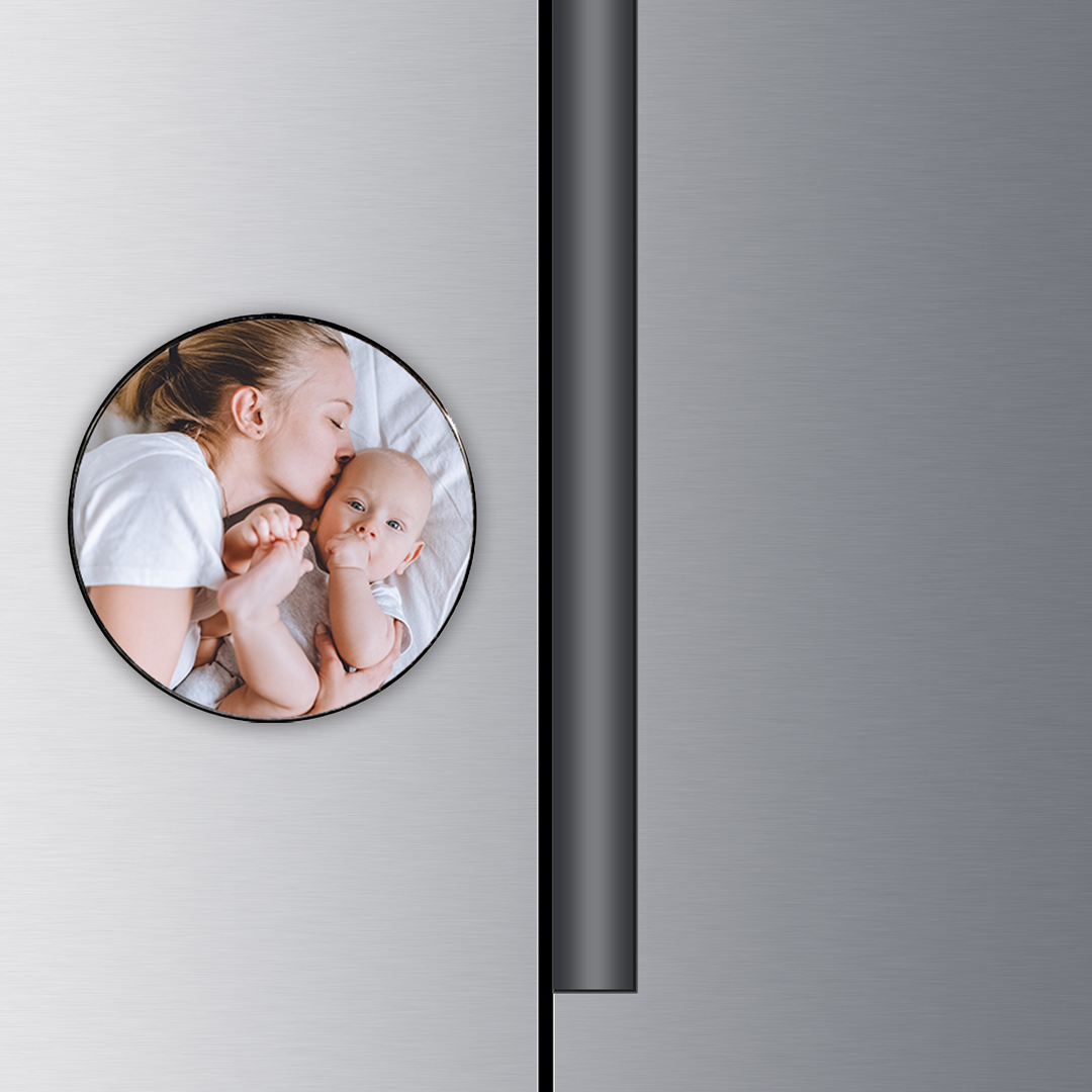 Custom Photo Round Metal Magnets