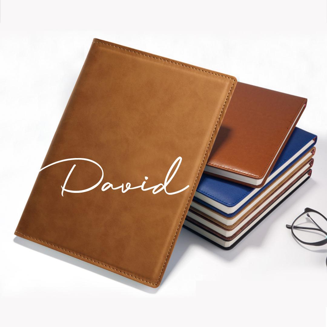 Custom Leather Signature Notebook
