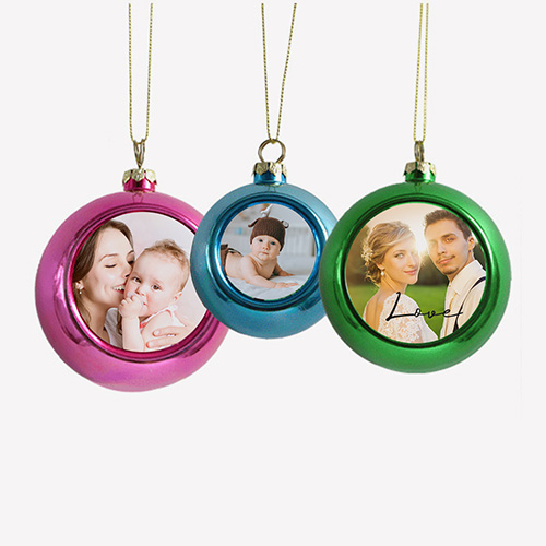 Custom Photo Christmas Ball Ornaments